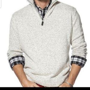 Chaps mens 1/4 zip new sweater